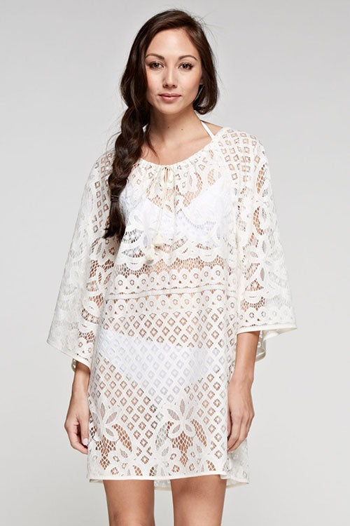 LACE CAFTAN COVER UP