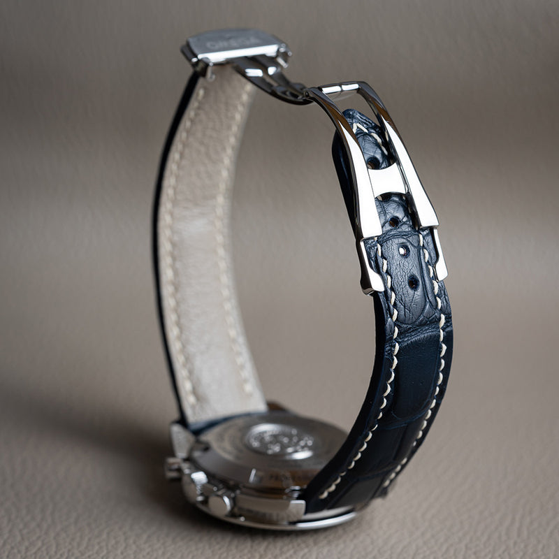 Blue Alligator Omega-Style Deployant Strap