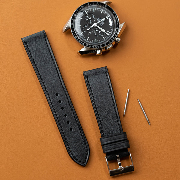 Black Antique Calf watch strap