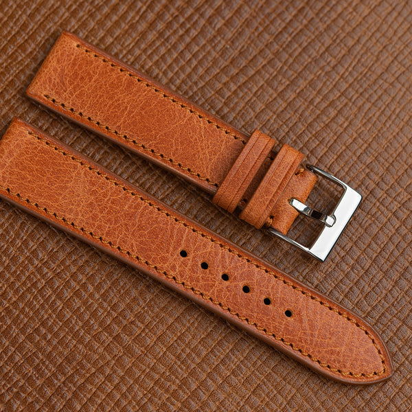 Cognac Antique Calf Leather Strap