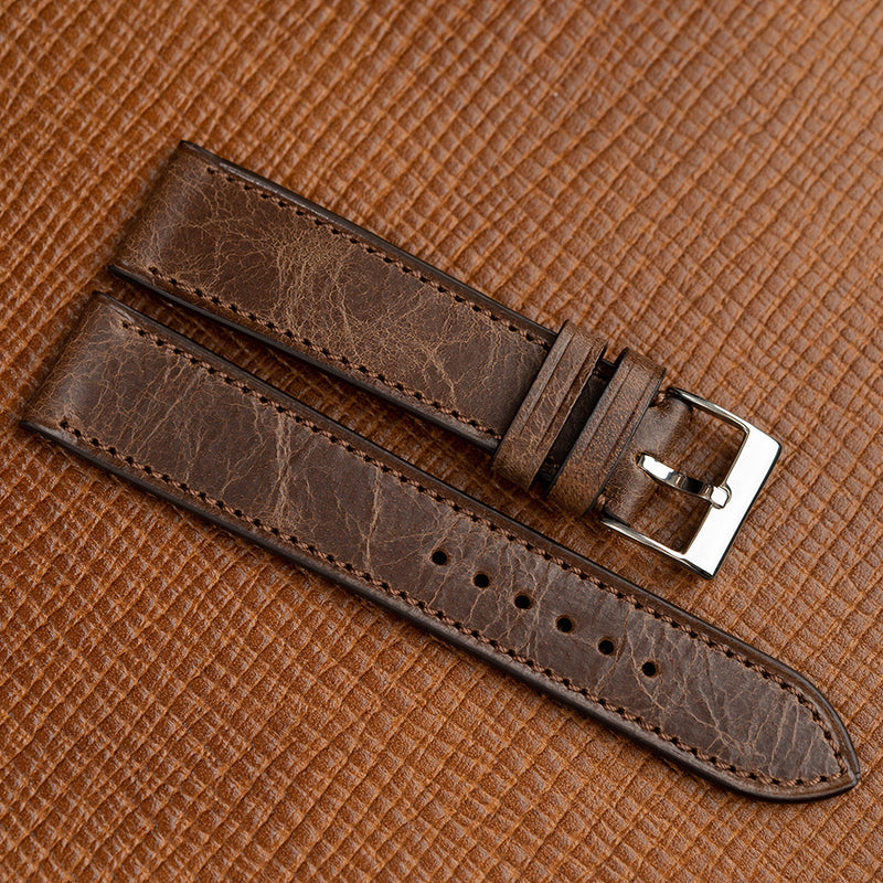Dark Brown Antique Calf watch strap