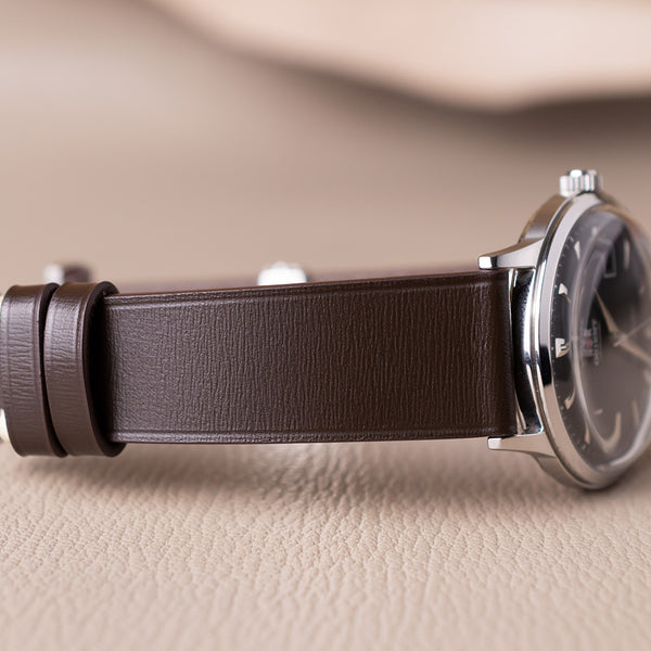 Example- Without Stitching Espresso Calf Leather Strap