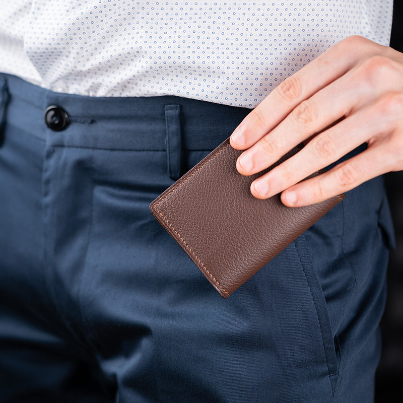 Chocolate Brown Card Holder