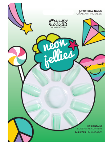 Green Neon Jellies Press-On Nail Kit