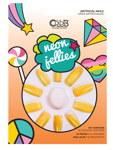 Orange Neon Jellies Press-On Nail Kit