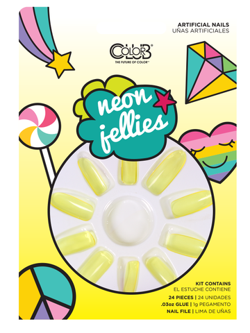 Yellow Neon Jellies Press-On Nail Kit