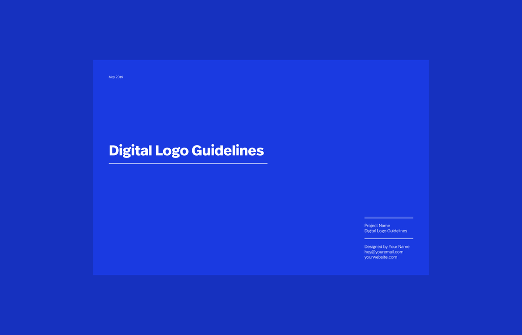 digital logo guidelines template cover