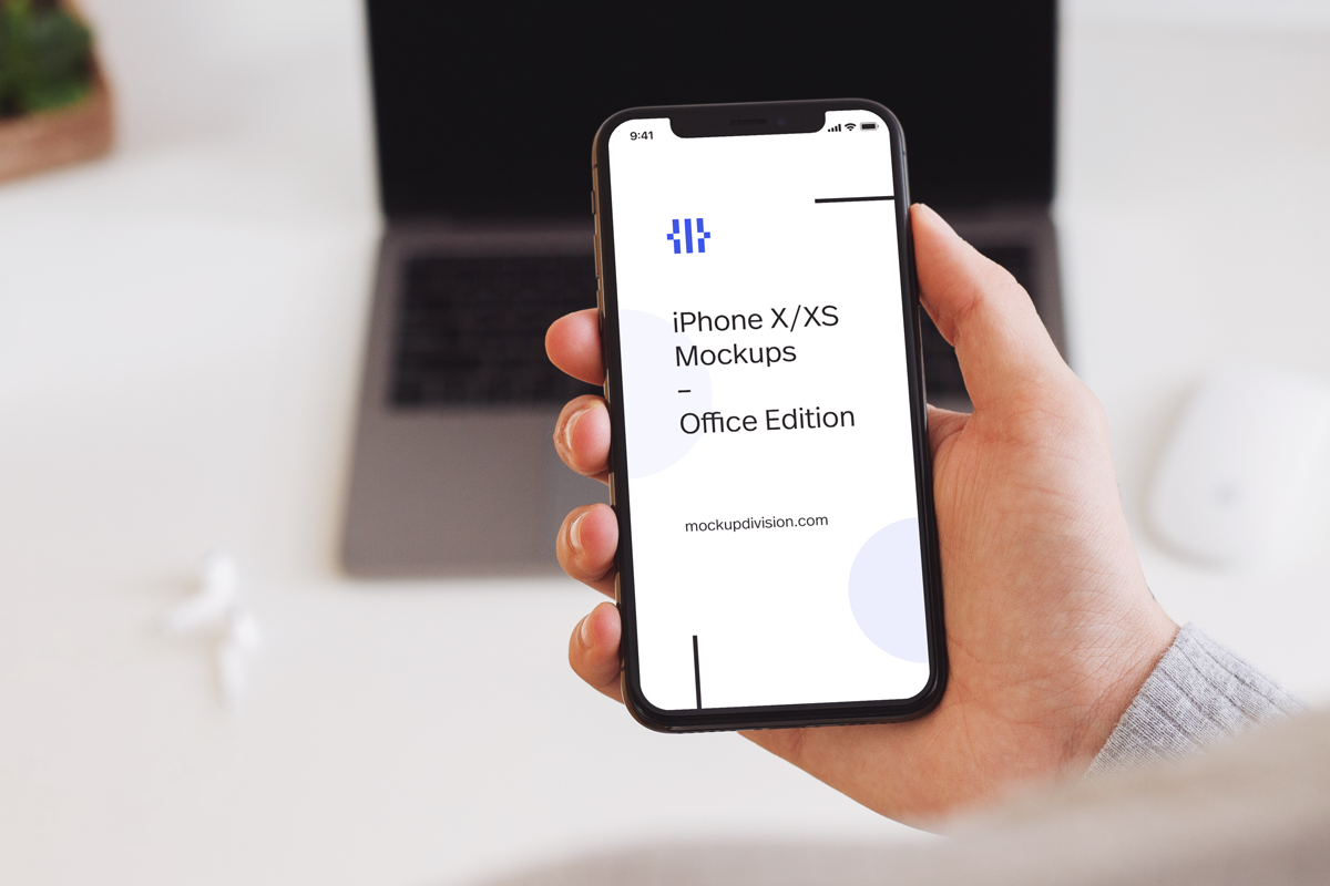 iPhone XS Mockups Office Edition