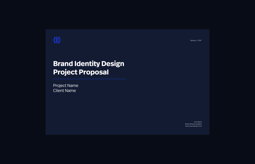 project proposal design template mockup division