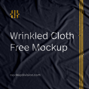 free realistic wrinkled cloth flag psd mockup division