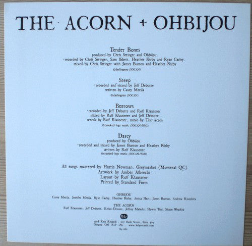 The Acorn + Ohbijou ‎| Split (Canada VG+)