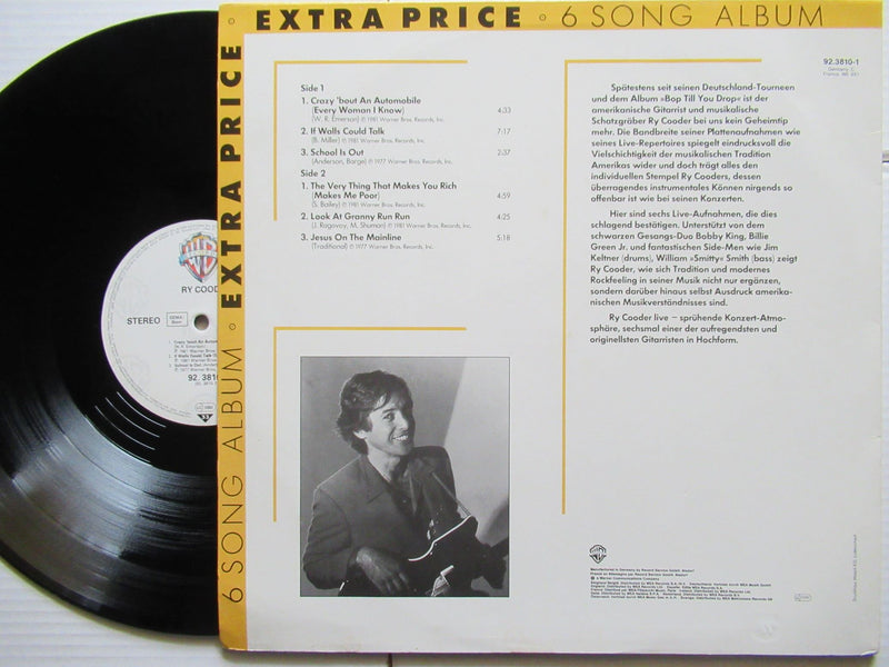 Ry Cooder | Ry Cooder | 6 Song Album Extra Price (Germany VG+)