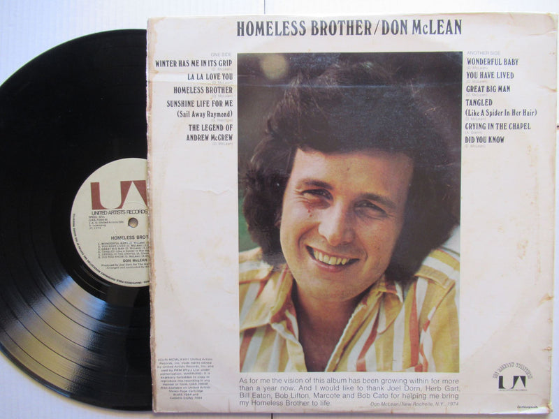 Don McLean | Homeless Brother (RSA VG+)