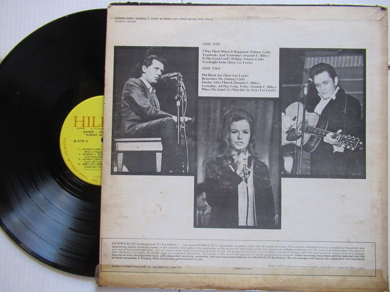 Johnny Cash, Jeannie C Riley And Jerry Lee Lewis | Sunday After Church (USA VG+)