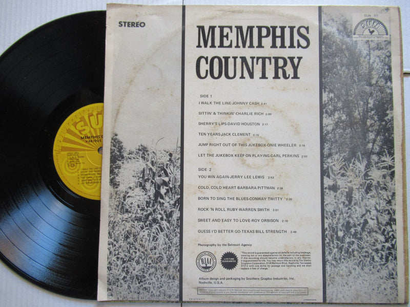 Various (Sun Records) | Memphis Country (RSA VG+)