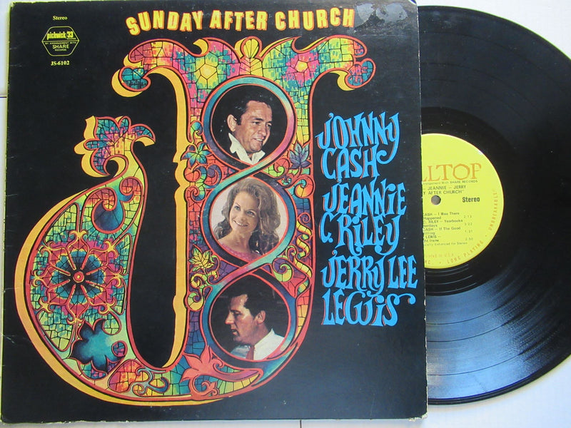 Johnny Cash, Jeannie C. Riley & Jerry Lee Lewis | Sunday After Church (USA VG-)