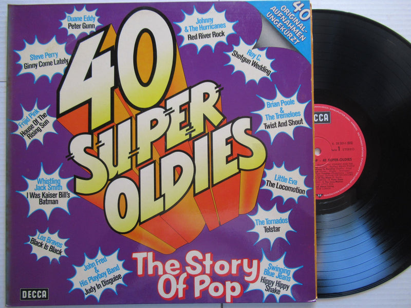 Various Artists | The Story Of Pop | 40 Super-Oldies (Germany VG+ 2LP)