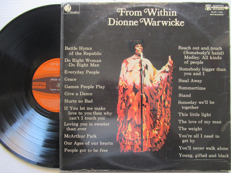 Dionne Warwick | From Within | RSA | VG+ 2 LP Gatefold