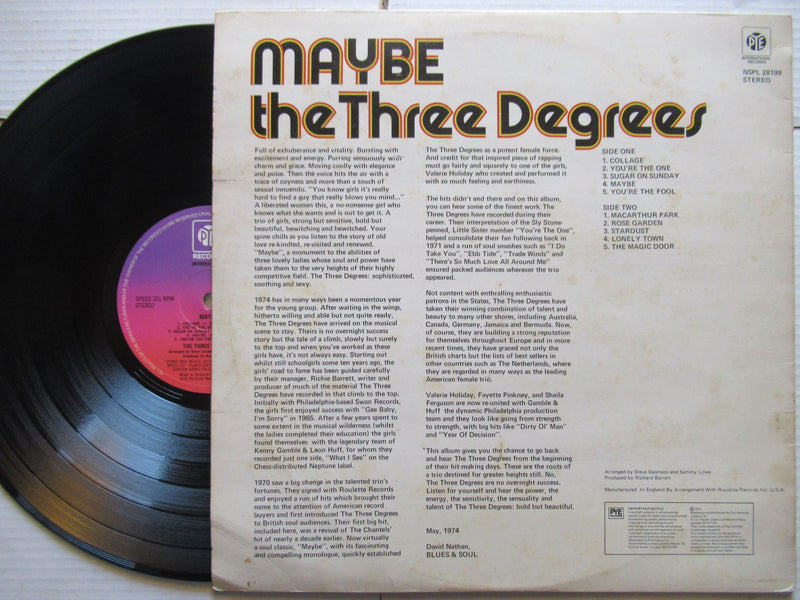 The Three Degrees | Maybe | UK | VG