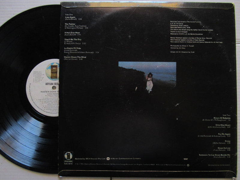 Linda Ronstadt | Hasten Down The Wind | RSA | VG+