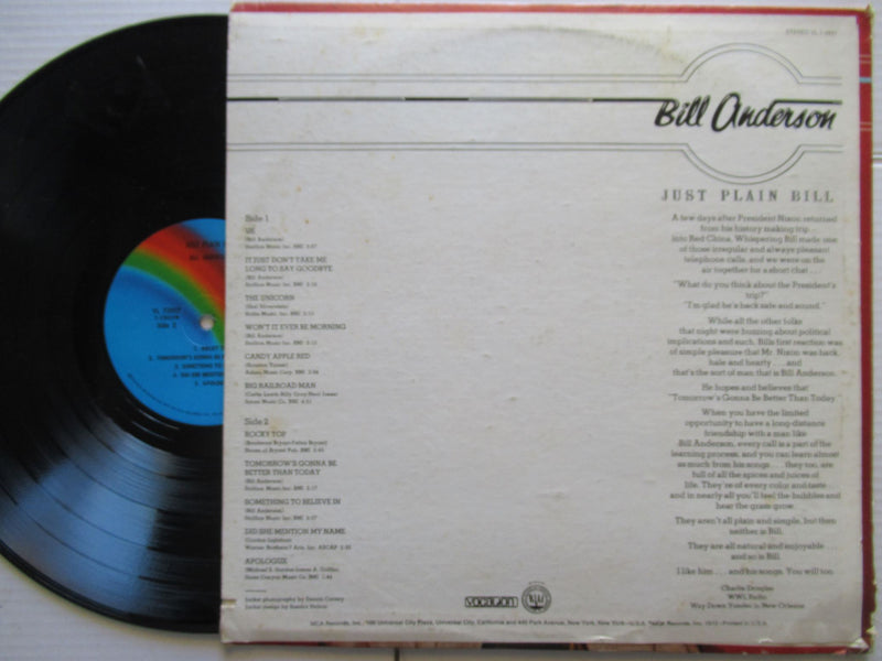 Bill Anderson | Just Plain Bill | USA | VG+