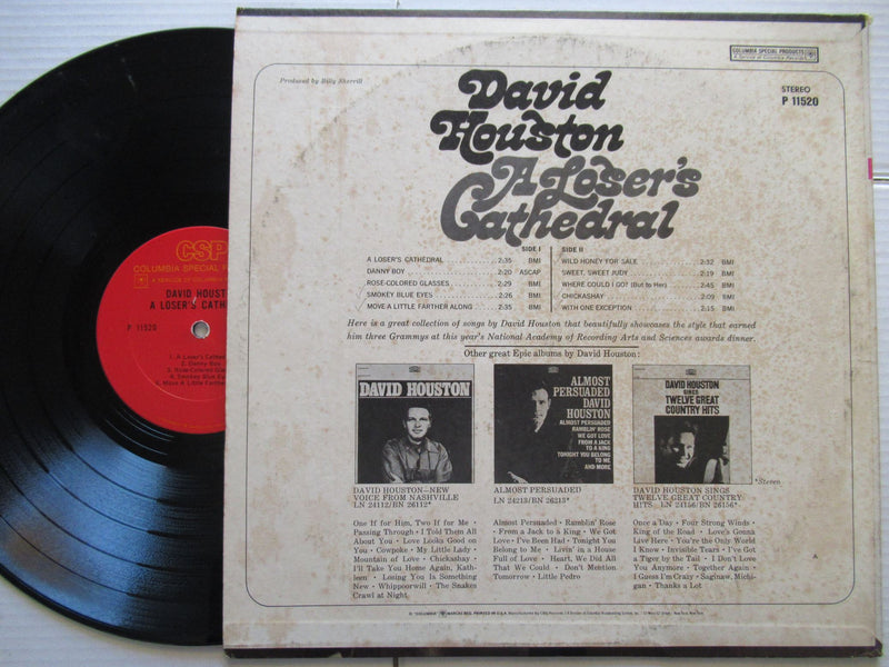 David Houston | A Loser's Cathedral | USA | VG+