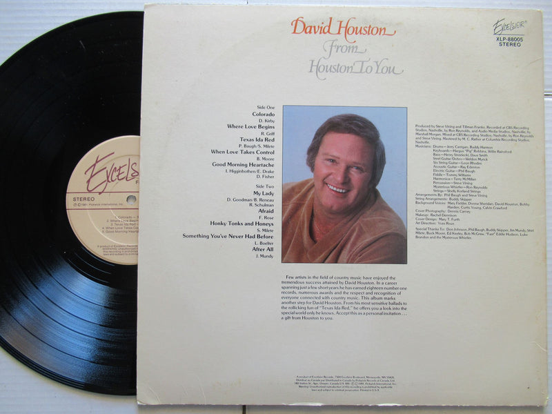 David Houston | From Houston To You | USA | VG+