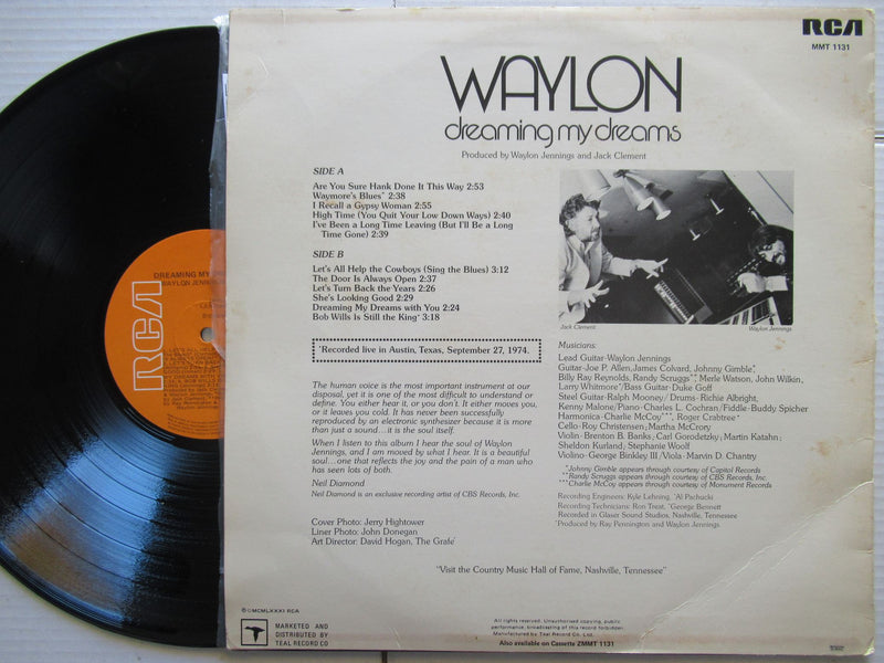 Waylon Jennings | Dreaming My Dreams | RSA | VG+