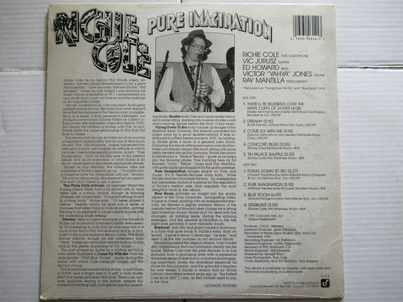 Richie Cole | Pure Imagination | USA | EX | Sealed