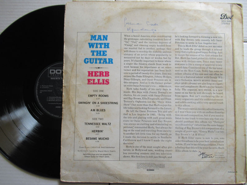 Herb Ellis | Man With The Guitar | RSA | VG