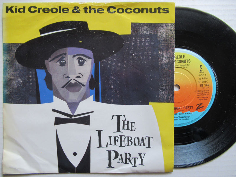 "Kid Creole & The Coconuts | The Lifeboat Party 7""  (UK VG)"