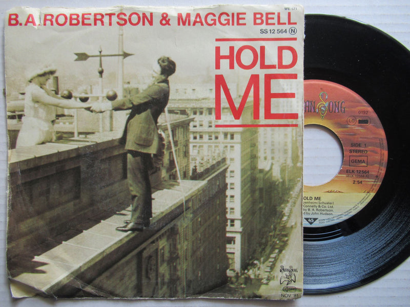"B.A. Robertson & Maggie Bell | Hold Me 7"" Germany VG"