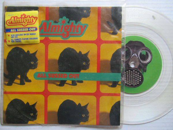 "Almighty | All Sussed Out 7"" UK VG+ Clear Vinyl"