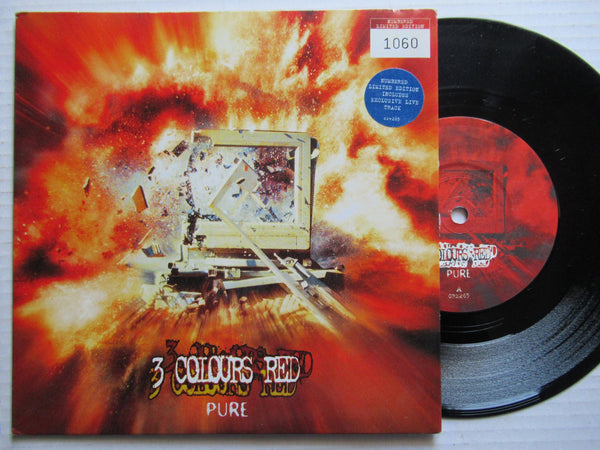 "3 Colours Red | Pure 7"" UK VG+"