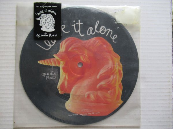 "Operator Please ‎– Leave It Alone 7"" UK VG+ Picture Disc"