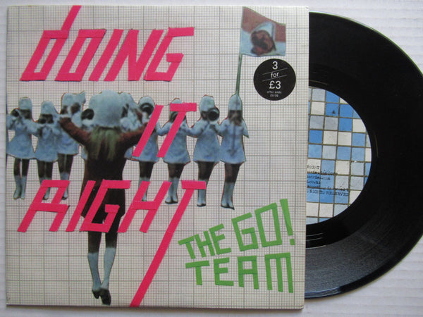 "The Go Team | Doing It Right 7"" Uk VG+"