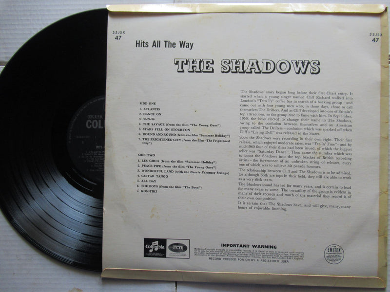 The Shadows | Hits All The Way ( USA VG )