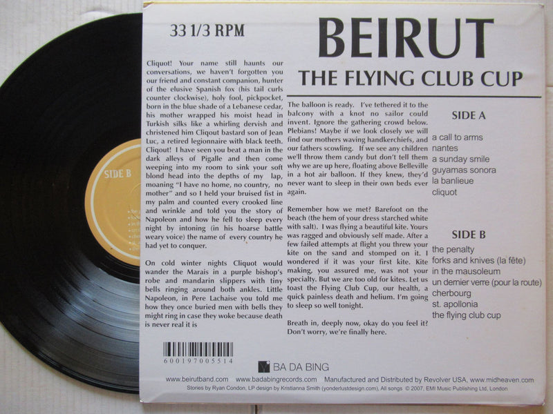 Beirut | Flying Club Cup ( UK VG+)