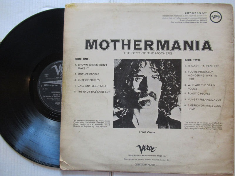 Mothers Of Invention | Mothermania ( UK VG- )