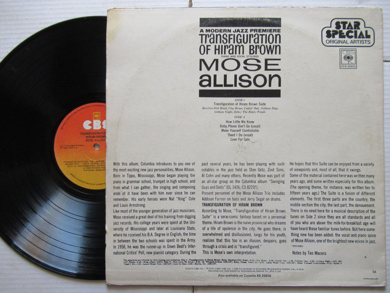Mose Allison | Transfiguration Of Hiram Brown | RSA | VG+