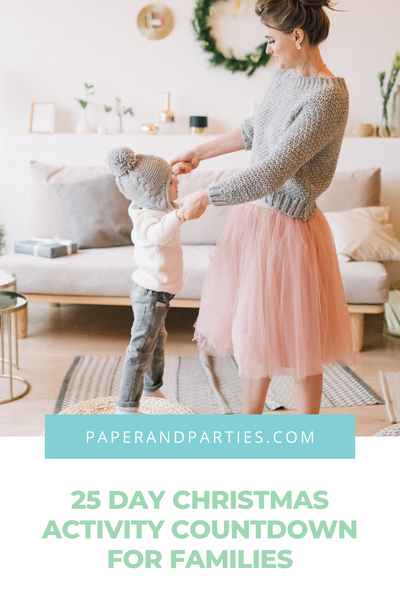 25 Day Christmas Activity Countdown For Families