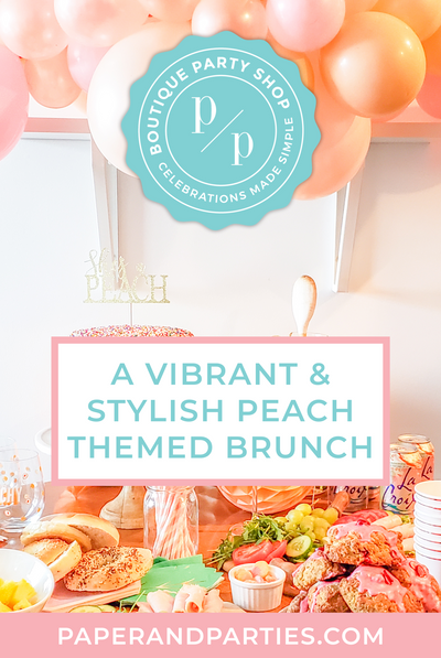 A Vibrant & Stylish Peach Themed Brunch