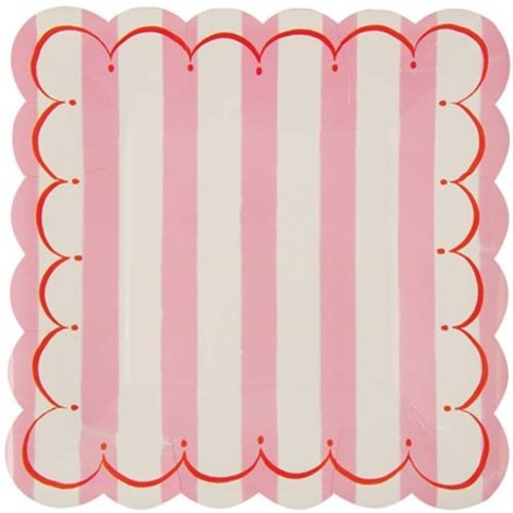 Toot Sweet Pink Plates Large