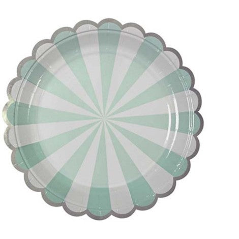 Aqua Pinwheel Plates- Small - Paper & Parties Boutique