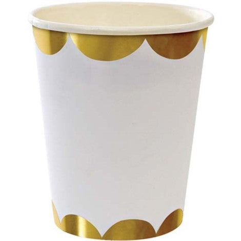 Gold scalloped cups - Paper & Parties Boutique