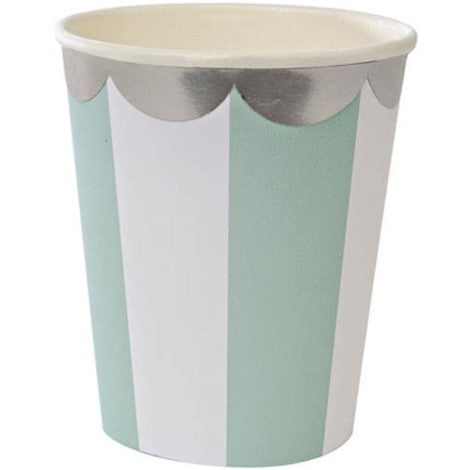 Aqua Pinwheel Cups - Paper & Parties Boutique