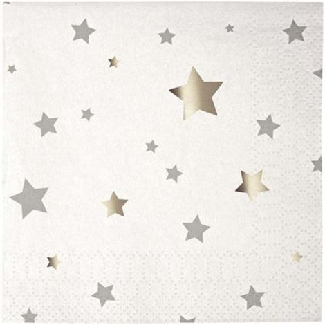 Silver Star Napkins- Small - Paper & Parties Boutique