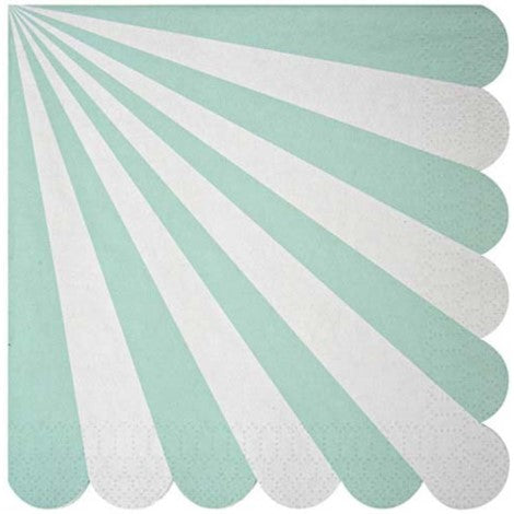 Aqua Pinwheel Napkins- Large - Paper & Parties Boutique