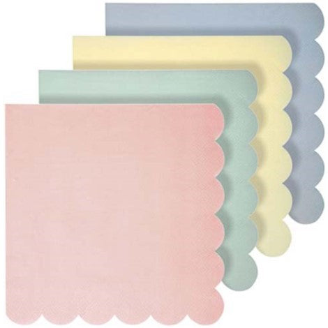 Pastel Colored Napkins- Large - Paper & Parties Boutique