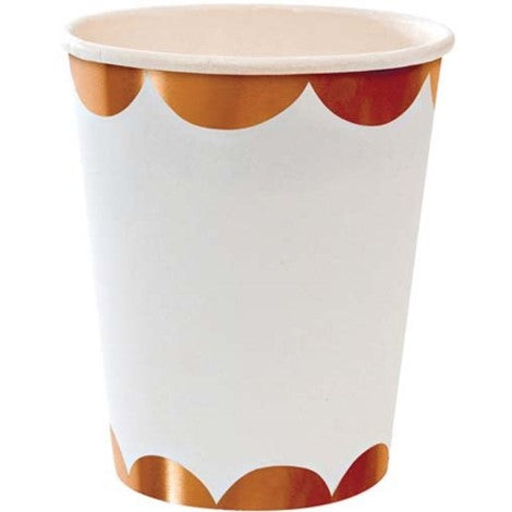 Rose Gold Scalloped Cups - Paper & Parties Boutique